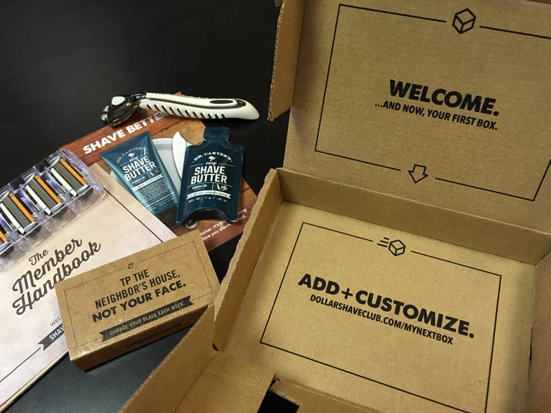 Dollar Shave Club Contents