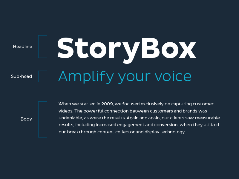 StoryBox Typography