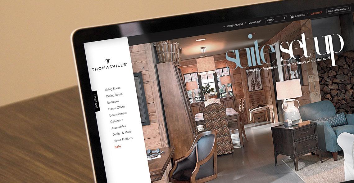 Thomasville Furniture Website Design, Thomasville Furniture Website